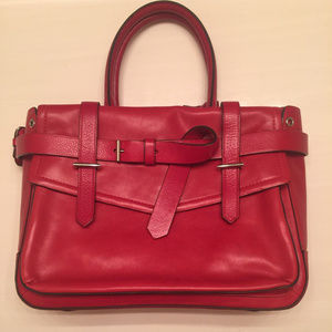 Reed Krakoff Red Leather Boxer with Top Handles